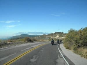 california motorcycle tour over the mountains