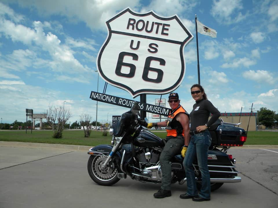 guided route 66 motorcycle tours on a harley davidson autos post. Black Bedroom Furniture Sets. Home Design Ideas
