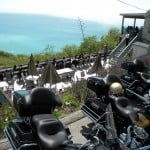 Taking a break on the Pacific Coast Highway on Ride Free Motorcycle Tour
