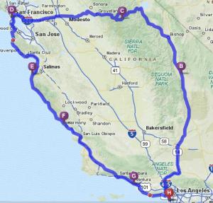 California Motorcycle Tour