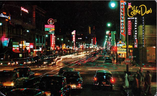 Hollywood Blvd At Night Classic Car Tour Rental Ride