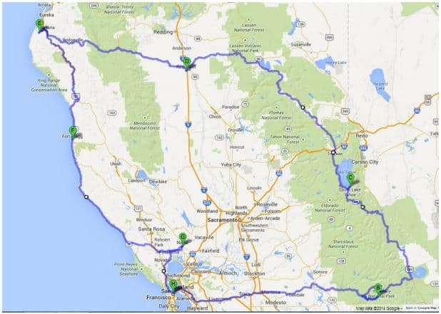northern california motorcycle tour