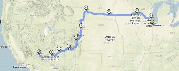 sturgis tour map chicago to vegas