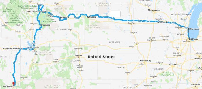 Sturgis Motorcycle Tour Chicago To Las Vegas Ride Free